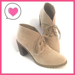 Tan lace up heeled booties Restricted 8 1/2 (8.5)